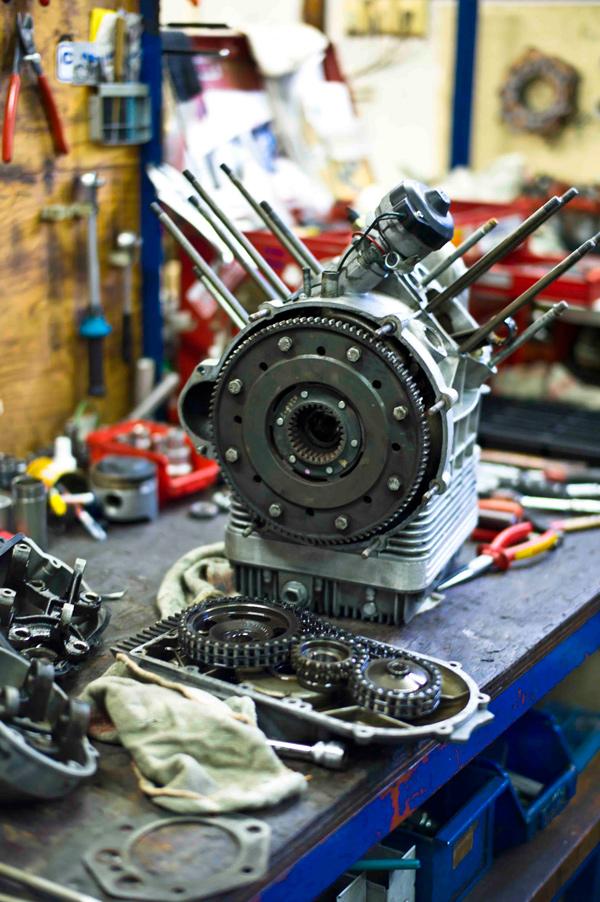 Motor ohne Zylinder